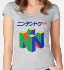 Japanese Nintendo 64 Women's Fitted Scoop T-Shirt