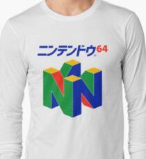 Japanese Nintendo 64 Long Sleeve T-Shirt