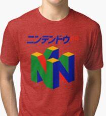 Japanese Nintendo 64 Tri-blend T-Shirt