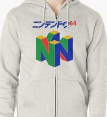 Sudadera con capucha y cremallera Japonés Nintendo 64