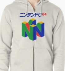 Japanese Nintendo 64 Zipped Hoodie