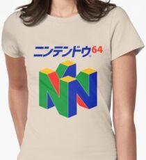Japanisches Nintendo 64 Tailliertes T-Shirt für Frauen