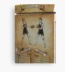 Edison and Tesla Electrical Box Canvas Print