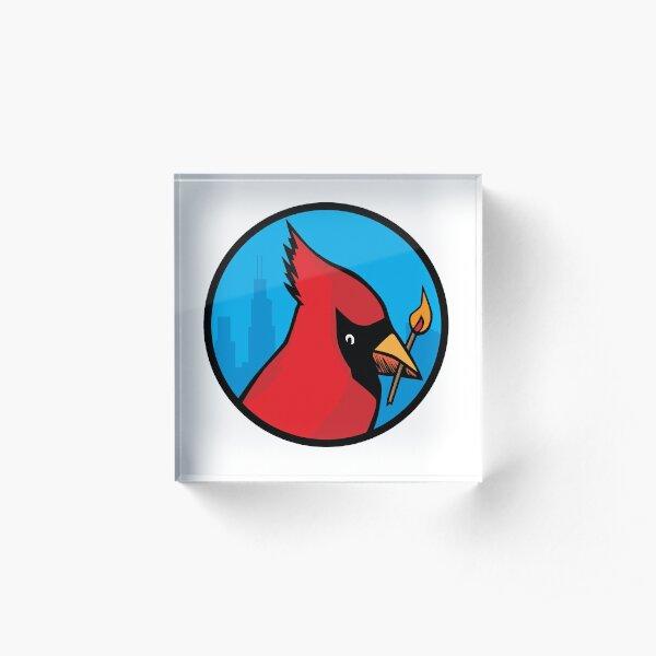 Cardinal With Match Acrylic Block