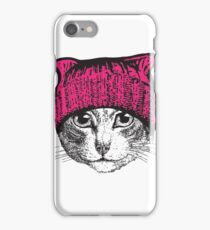 Pussyhat Protest Shirt - Women's March Pussycat Pink Hat Shirt iPhone Case/Skin