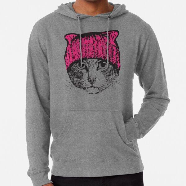Pussyhat Protest Shirt - Women's March Pussycat Pink Hat Shirt Lightweight Hoodie