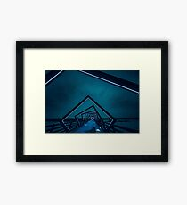 Perspective View of High Trestle Trail Bridge Framed Print