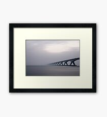 Bridge Fading in Fog Framed Print