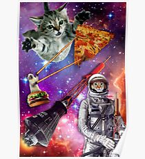 Pizza Cat in Space Poster