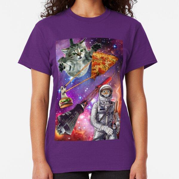 Cool cat hipster tee shirt Men/'s black cat tshirt outer space helmet hip kitty