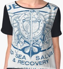 Blue Water Deep Sea Salvage Chiffon Top