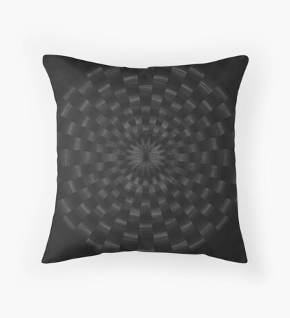 Circular Gray by Julie Everhart Throw Pillow