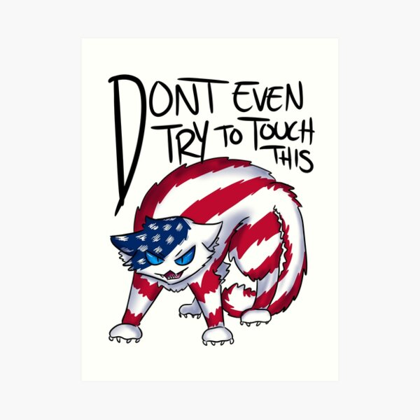 Don't even try to touch this- USA Art Print