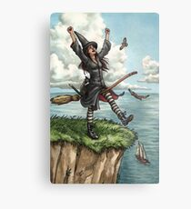 Everyday Witch Tarot - The Fool Metal Print