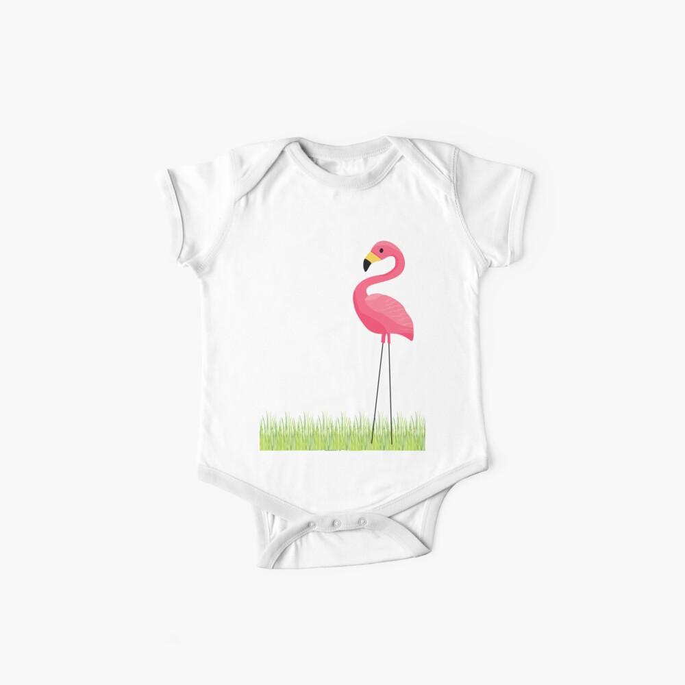 Pink Flamingo Baby One-Piece