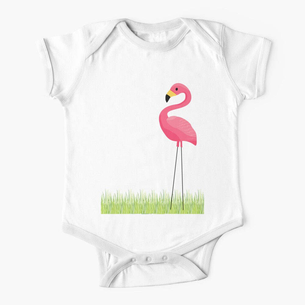 Pink Flamingo Baby One-Piece