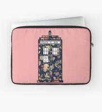 Floral TARDIS Laptop Sleeve