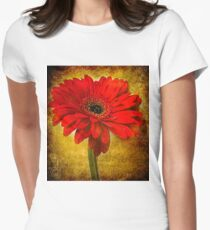 The Golden Gerbera Women's Fitted T-Shirt