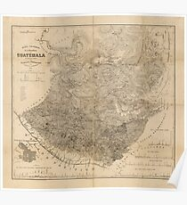 Vintage Map of Guatemala (1859) Poster