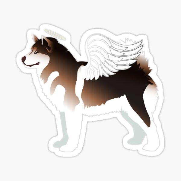 Alaskan Malamute Dog Angel Pet Memorial Sticker