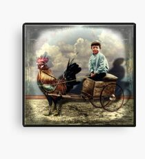 Jimmy and His Rooster Canvas Print