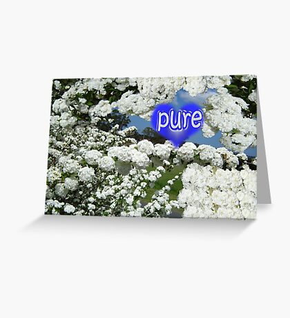 Blessed Blooms in Wonderful White Greeting Card