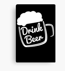 Cool Drink Beer T-Shirt Canvas Print