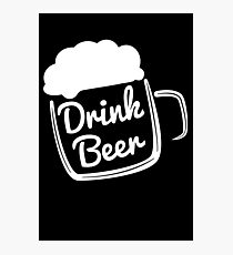 Cool Drink Beer T-Shirt Photographic Print