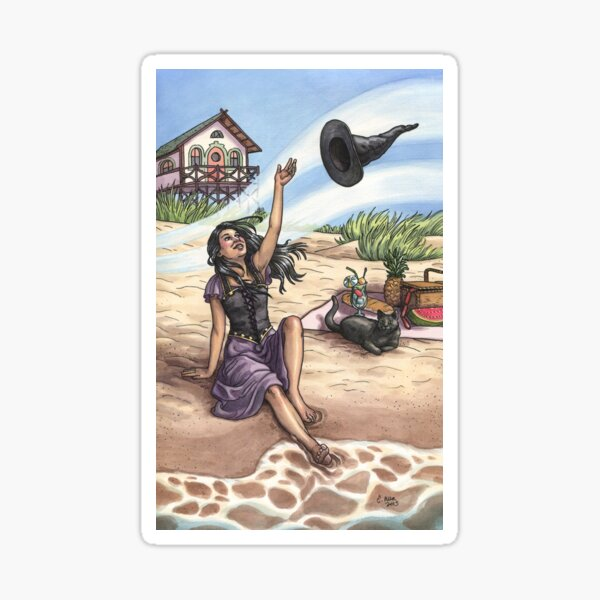 Everyday Witch Tarot - The World Sticker