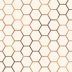 Rose gold copper honeycomb by peggieprints
