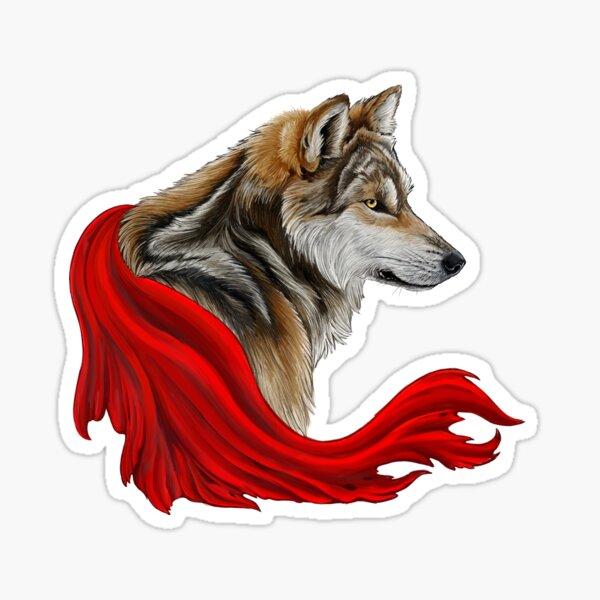 Red the wolf Sticker