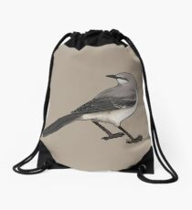 Northern Mockingbird Drawstring Bag