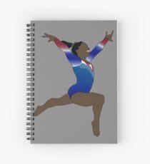 Simone Biles - Olympische Göttin Spiralblock