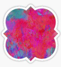 colorful quatrefoil Sticker