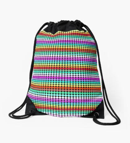 Stripey Polka dots 001 Drawstring Bag