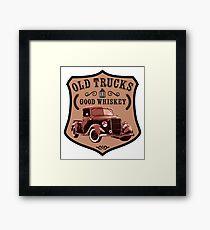 old trucks and good whiskey Framed Print