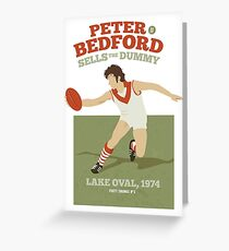Peter Bedford, South Melbourne -  (for white shirts only) Greeting Card