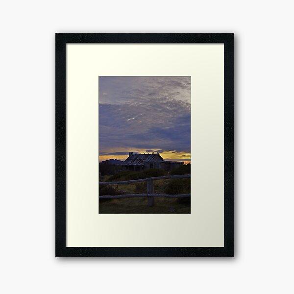 Craig's Hut - Sunrise Framed Art Print