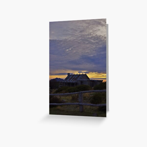 Craig's Hut - Sunrise Greeting Card