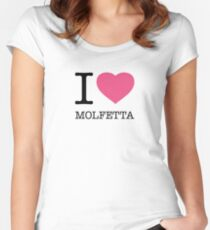I ♥ MOLFETTA Women's Fitted Scoop T-Shirt