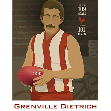 Grenville Dietrich - North Adelaide  (for red shirts only) by 4boat