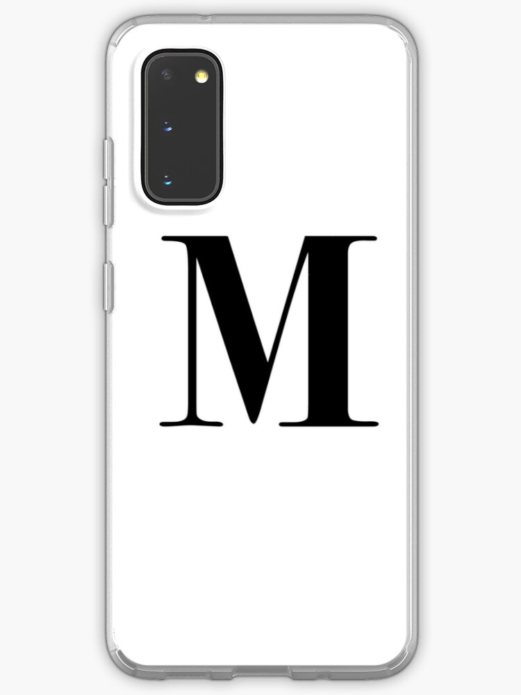 Letter M Monogram Initial Case Skin For Samsung Galaxy By Kryder15 Redbubble