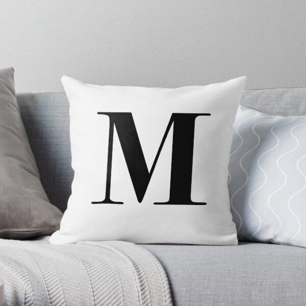 Letra M: monograma inicial Cojín