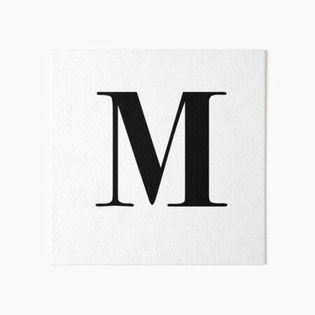 Letter M: monogram initial Art Board Print