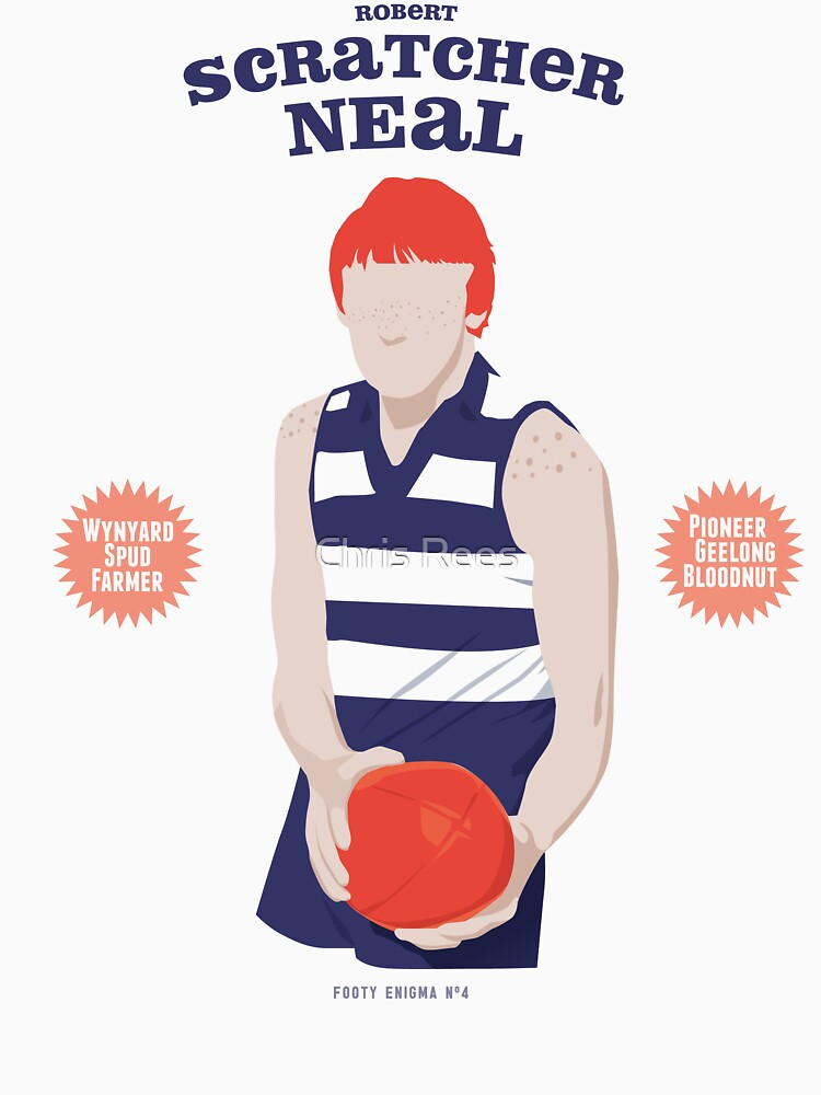 Robert Scratcher Neal - Geelong (for white shirts only) by 4boat