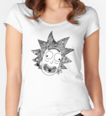 Rick (white) Women's Fitted Scoop T-Shirt