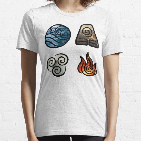 Avatar the Last Airbender Element Symbols Essential T-Shirt