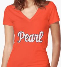 syracuse - Pearl Women's Fitted V-Neck T-Shirt