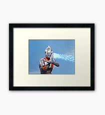 Ultraman ! Here he comes from the sky.... Framed Print