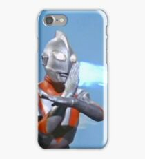 Ultraman ! Here he comes from the sky.... iPhone Case/Skin